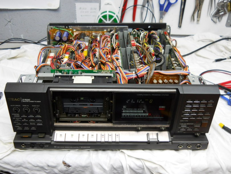 Teac Z-7000, Master Cassette Deck front top view repair bench upgrades