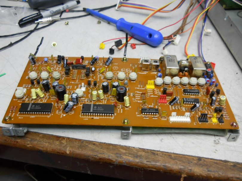 Teac Z-7000, Master Cassette Deck circuit board on work bench