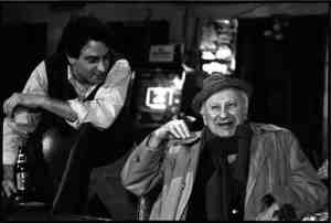 "Tom Weinberg, Studs Terkel shooting a ""The 90's"" segment in 1991."