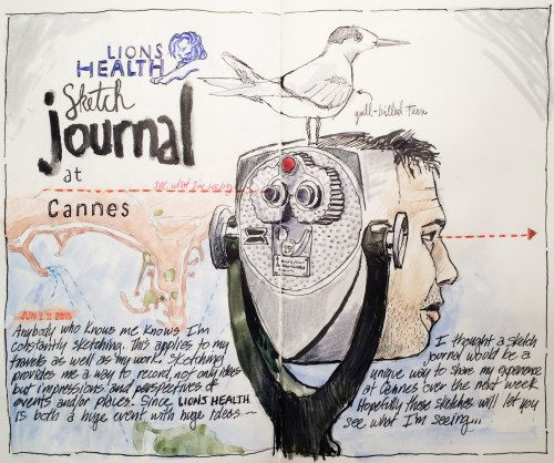 """Stephen Neale, """"Cannes Sketch No. 1"""" (Click to view enlargement)"""