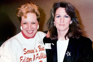 """Ruth Ratny and Barbara Roche at a ceremony where Holzer Roche Casting was honored as one of """"Chicago's Best"""""""