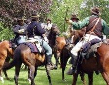 KeleQuine Productions provided set dressing for a Civil War reenactment