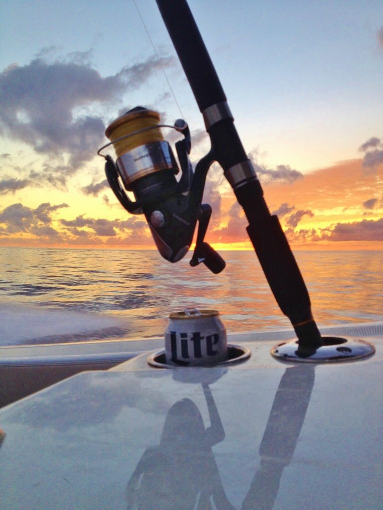 """Fish in the box, calm seas and headed home...I guess you call that """"Miller Time"""""""