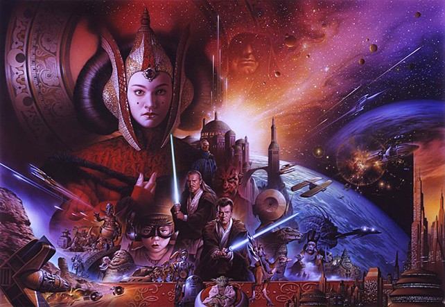 Image result for phantom menace art