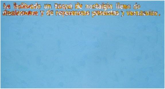 Sin Título (texto de Carolina Ponce de León)Vinilo y concentrado para vinilo sobre tela 1992