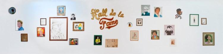 Hall de la Fama Dibujo, pintura, pigmentos 1996
