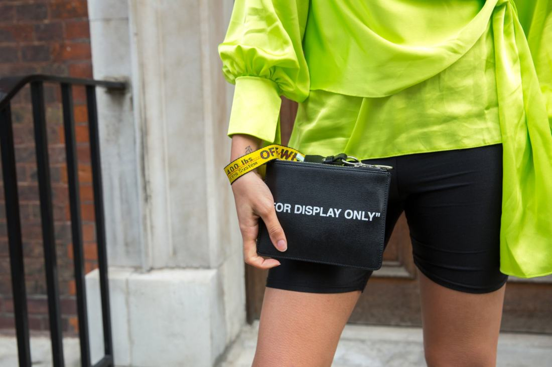 Off White clutch by Virgil Abloh