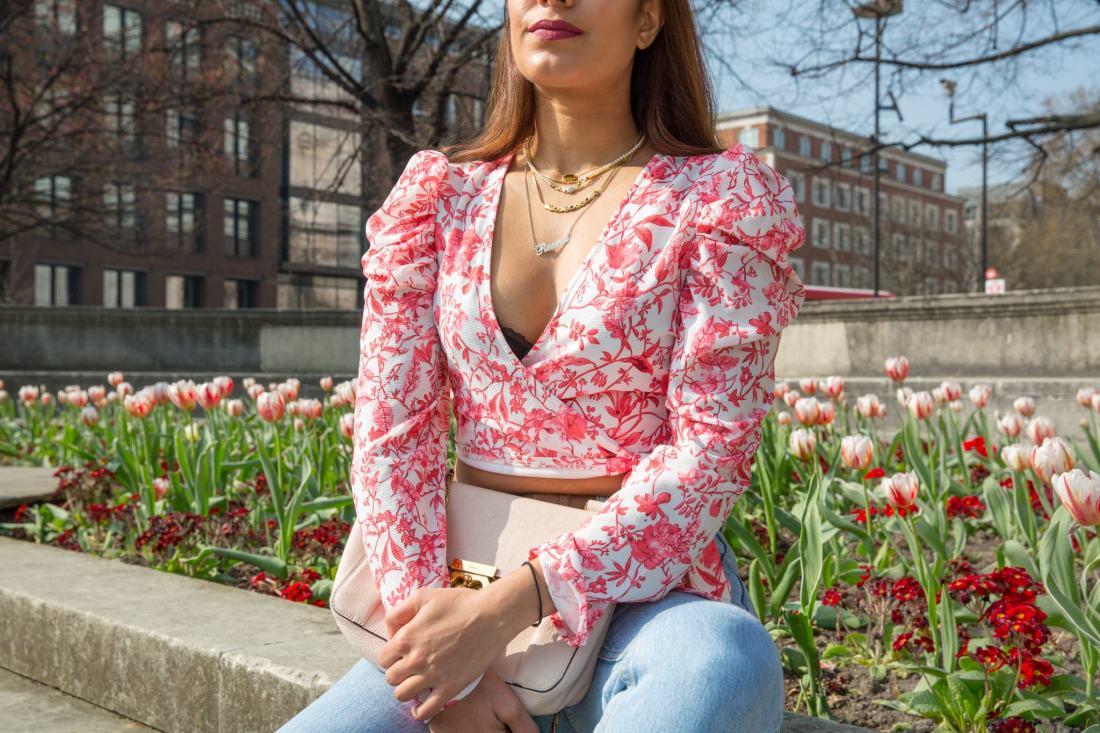 UK fashion blogger Reena Rai wearing Lorna Luxe x In The Style