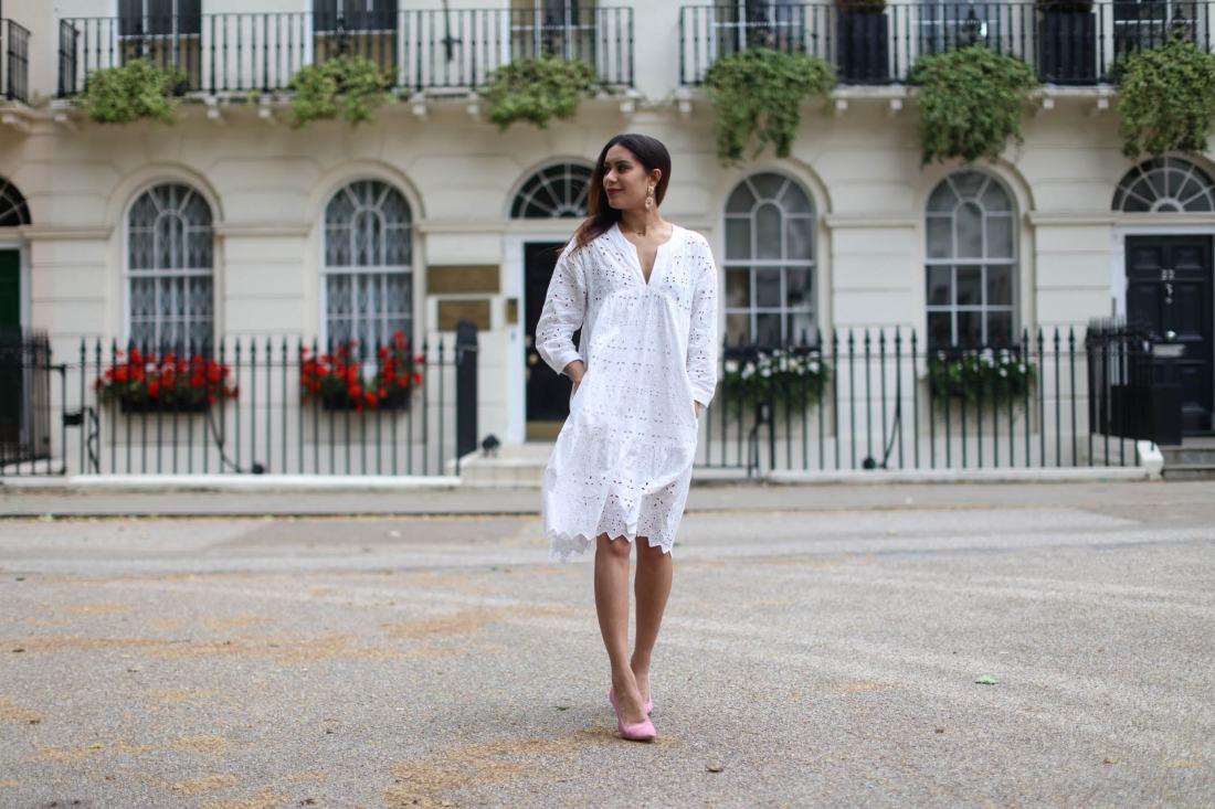 London fashion blogger Reena Rai wears Zara and Topshop