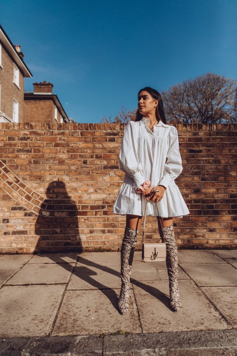 UK sustainable blogger Reena Rai wears sustainable fashion brand AVAVAV