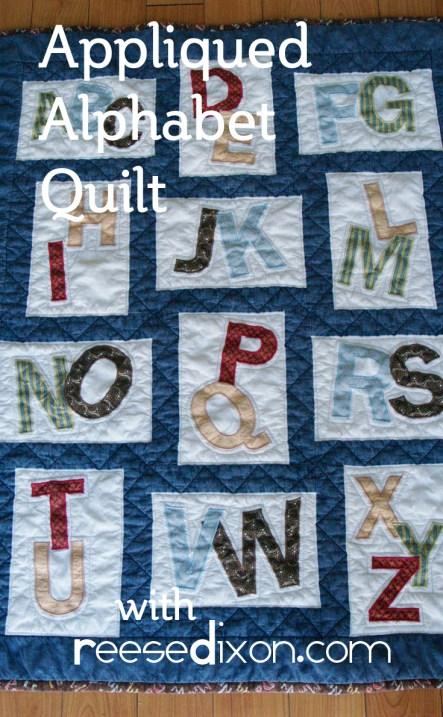 Appliqued Alphabet Quilt
