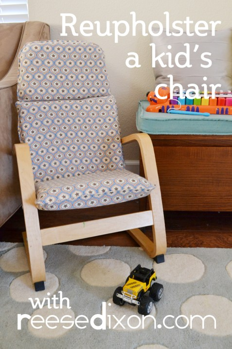 Reupholster a kids chair