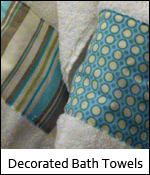 Decorated Bath Towels