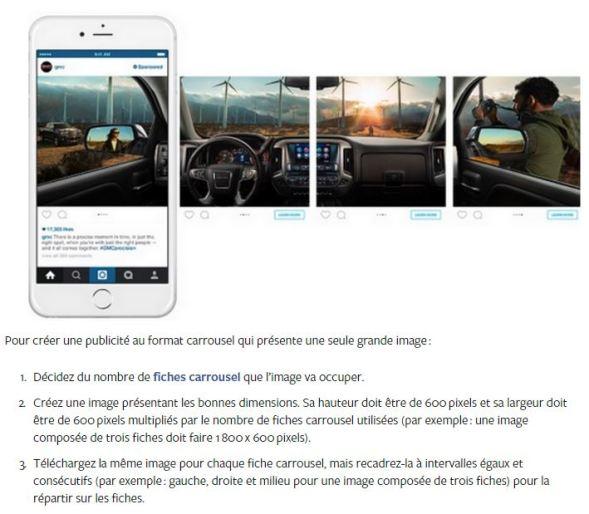 méthodologie caroussel facebook