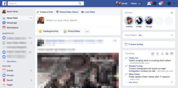 les stories Facebook arrivent sur la version PC