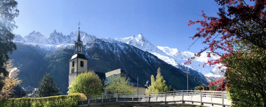 Chamonix church bells in summer
