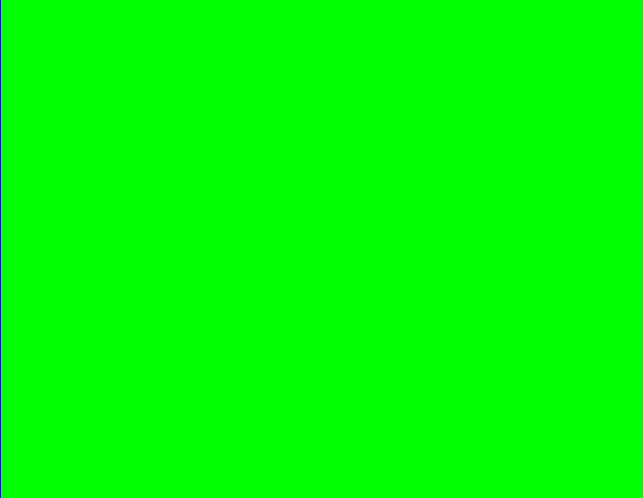 Pure Green Test Screen