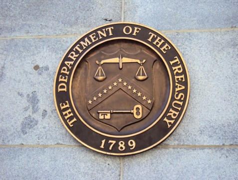 """Seal on United States Department of the Treasury on the Building"" by MohitSingh - Own work. Licensed under CC BY-SA 3.0 via Wikimedia Commons - https://commons.wikimedia.org/wiki/File:Seal_on_United_States_Department_of_the_Treasury_on_the_Building.JPG#/media/File:Seal_on_United_States_Department_of_the_Treasury_on_the_Building.JPG"