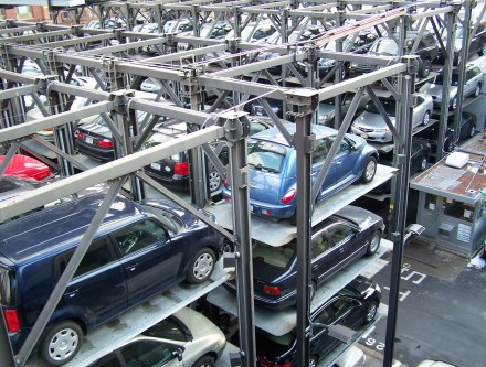 """Stacked parking New York 2010"" by Jérôme"