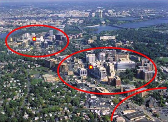 """ArlingtonTODimage3"" by This image was altered by Thesmothete with additional graphical elements to indicate the location of transit stations and the extent of development around them. - Derivative of :Image:ArlingtonRb aerial.jpg. Licensed under Public Domain via Commons - https://commons.wikimedia.org/wiki/File:ArlingtonTODimage3.jpg#/media/File:ArlingtonTODimage3.jpg"