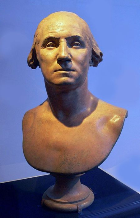 Bust of George Washington by Jean-Antoine Houdon