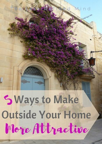 5 ways to make the outside of your house more attractive, including some free tips as well as bigger investments. #interiors #homeimprovements #diy