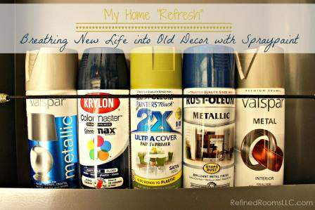 Spraypainting Old Home Decor Refinedroomsllc Com