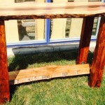 Maple Walnut Bar Table