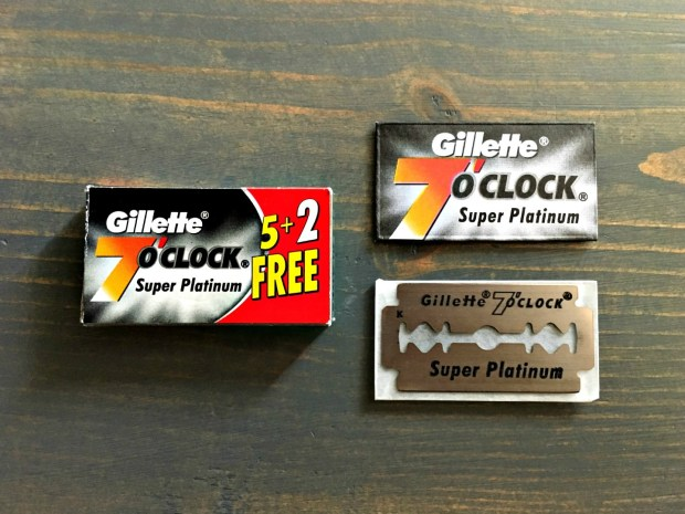 Gillette 7 O'clock Super Platinum Razor Blade