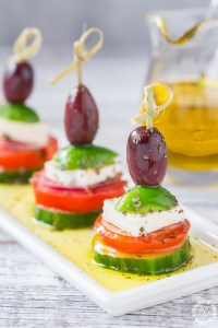 Singer Serving Greek Salad