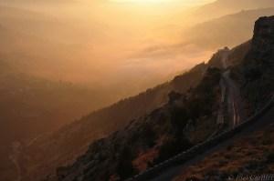 Sunset over Qadisha Valley, Lebanon