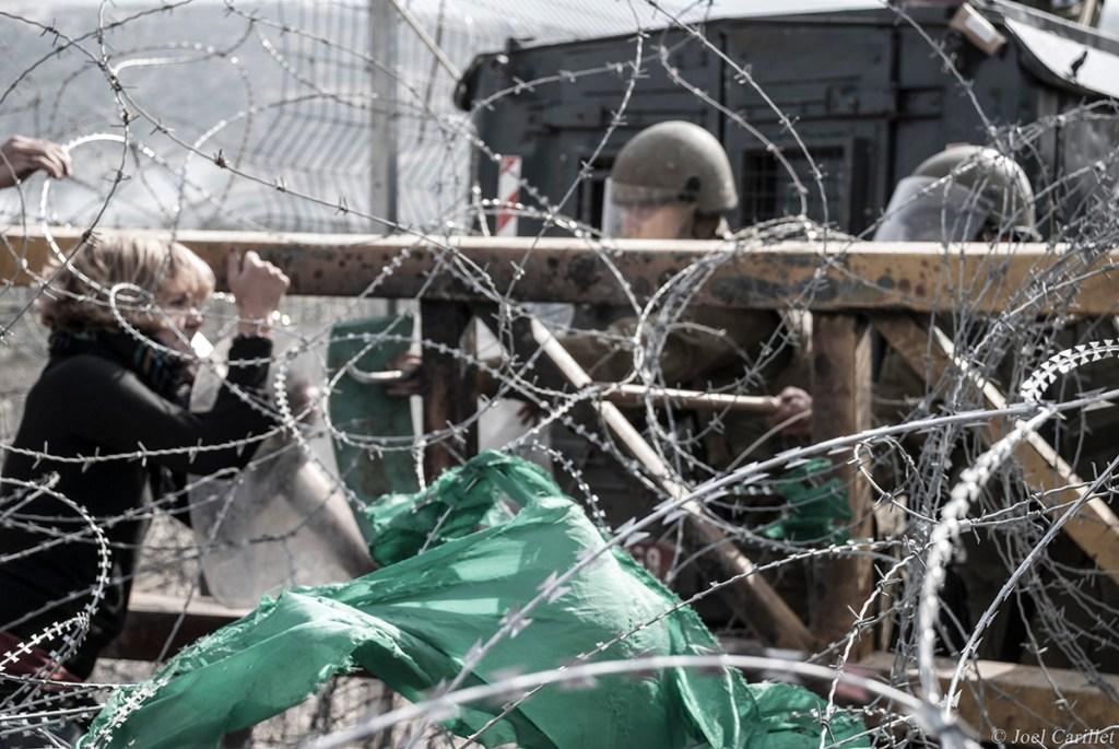 Protest in Bil'in, West Bank, Palestine