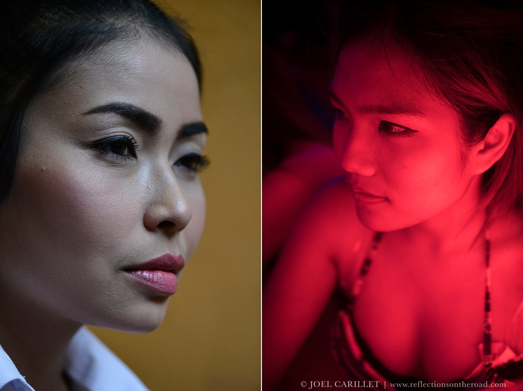 Thai women in Bangkok's red light district