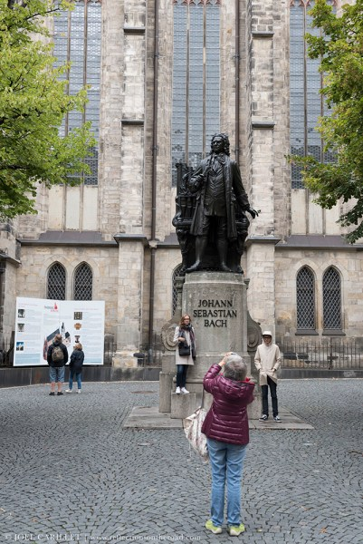 Statue of Johann Sebastian Bach in Leipzig, Germany