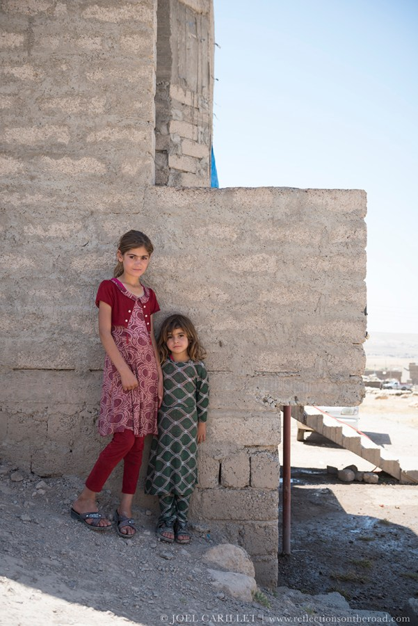 Two Yazidi sisters in the old village of Sharya northern Iraq
