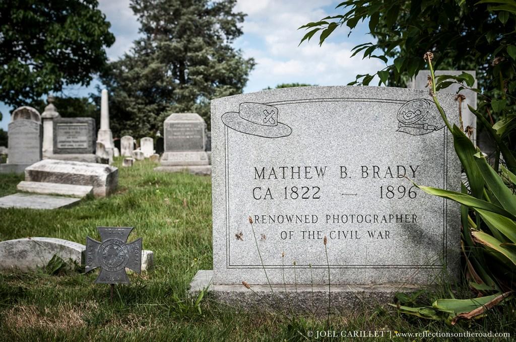 Grave of photographer Mathew Brady in Washington D.C.