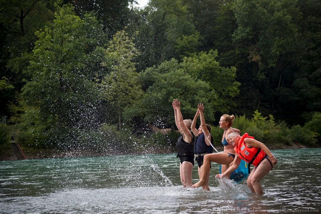 Aare River fun in Bern, Switzerland