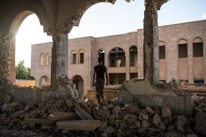 Church ruins in Mosul, Iraq