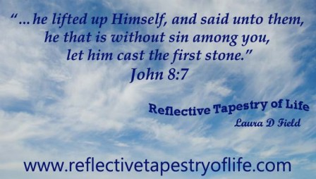 Reflective Tapestry of Life Casting the first stone