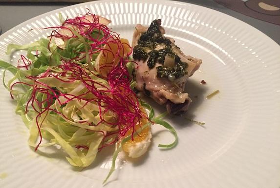 Kylling 'persillade' med en sprød salat
