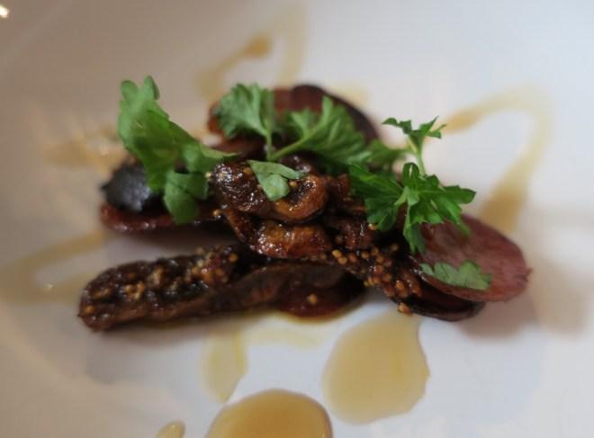 Chorizo-figen tapas