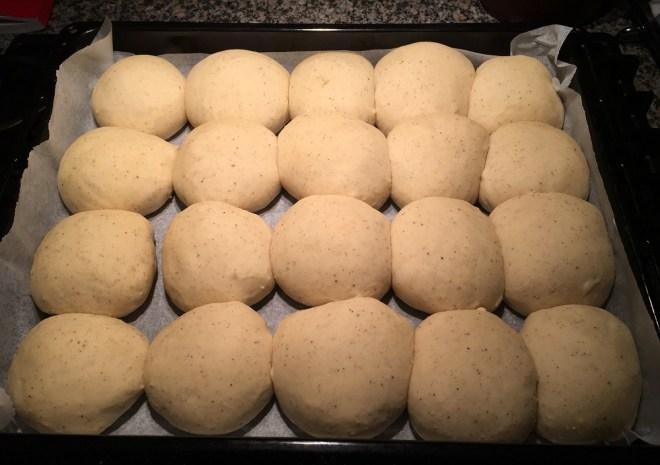 Hveder før de sættes i ovnen