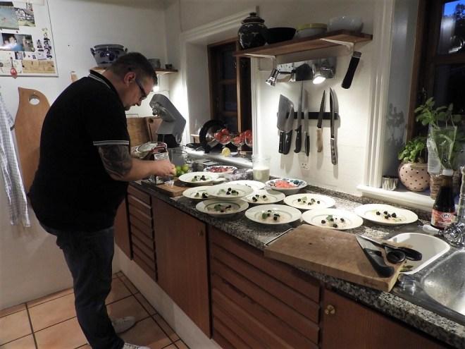 Kokken i køkkenet
