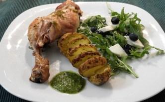 Øko-kylling med ruccola
