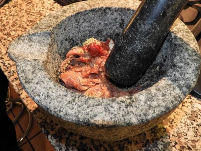 Ansjos tilberedes til anchoide