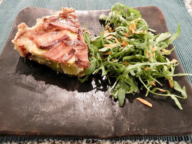 Porretærte med bacon