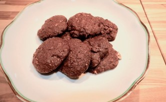 Cookies med kakao og nødder