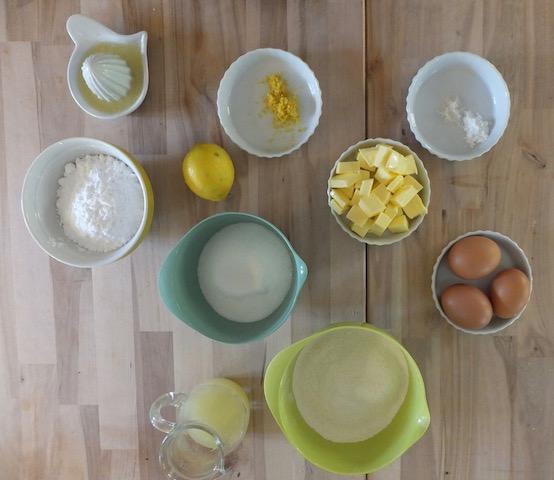 Citronkage - ingredienser