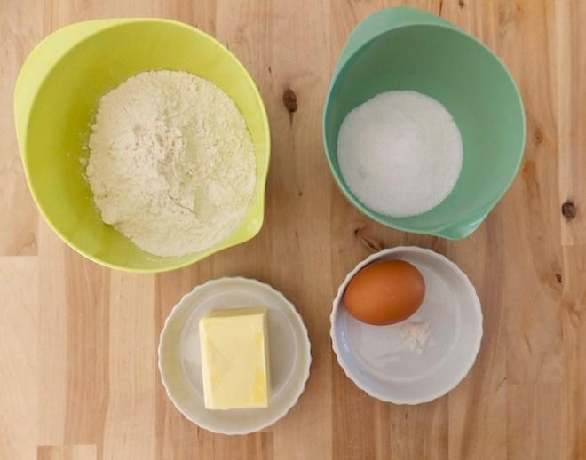 Æbletærte - ingredienser til tærtebunden