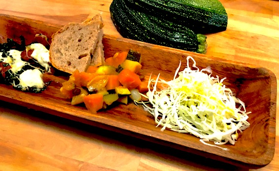 Tapas med græskar og squash.
